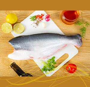 Premium River Pangash Fish Belly Clean & Dress 4kg to 5kg size